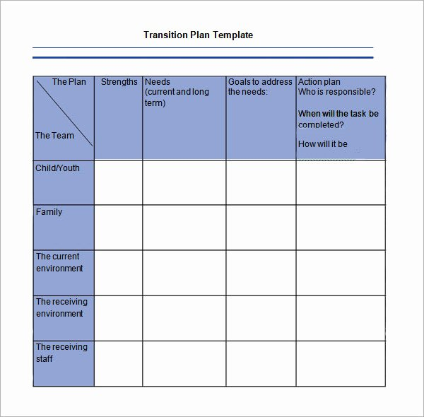 Job Transition Plan Template Luxury 5 Transition Plan Templates