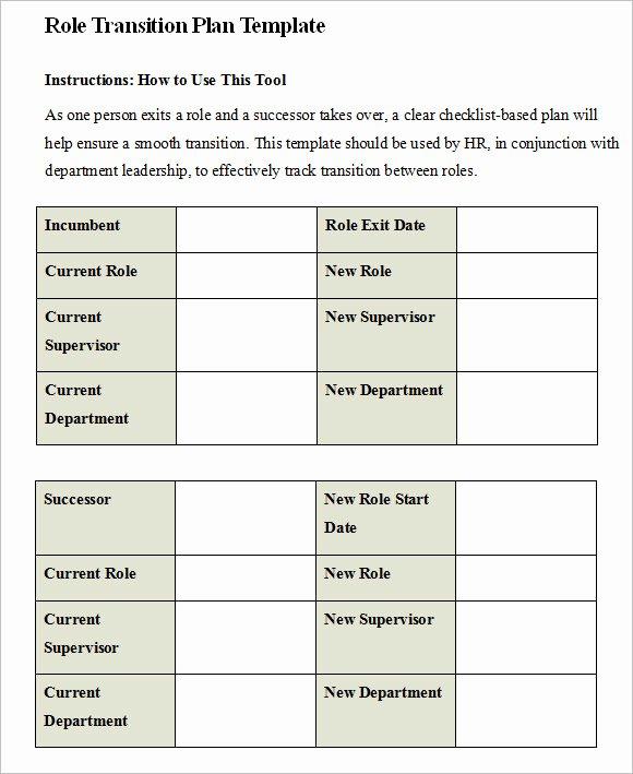 Job Transition Plan Template Unique 9 Transition Plan Samples