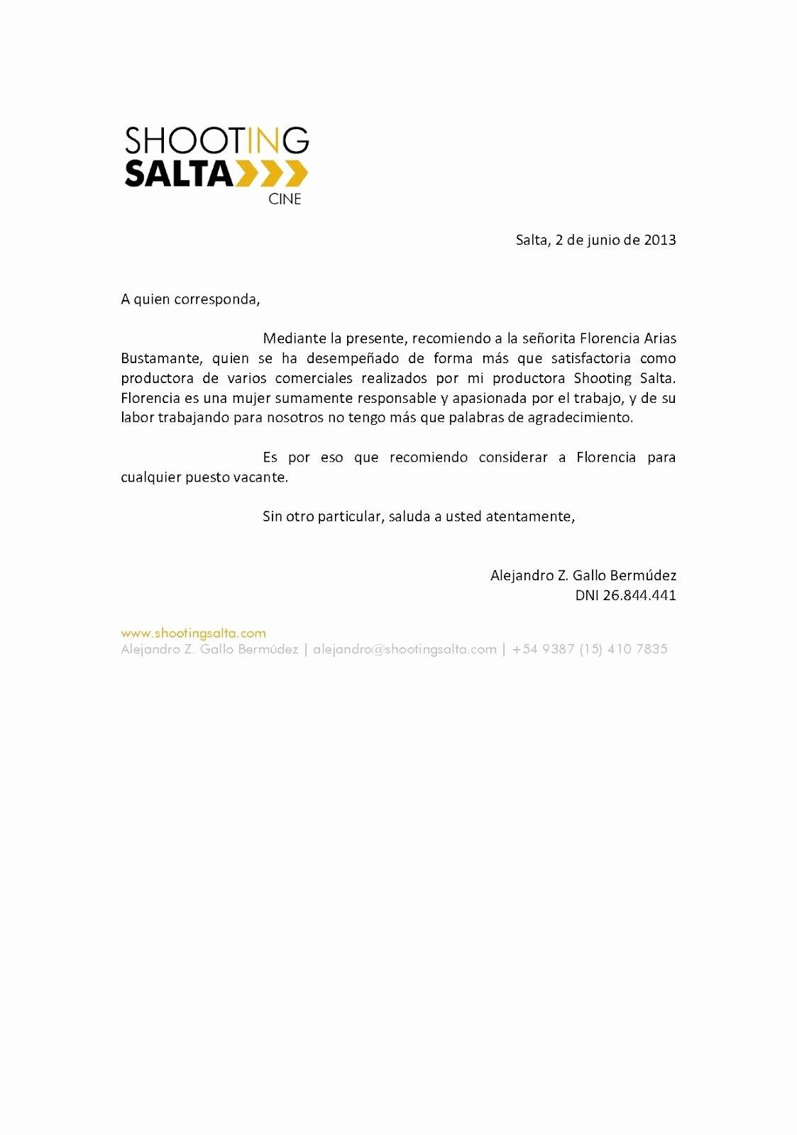 John Nash Letter Of Recommendation Elegant Carta De Re Endacin Personal O Hacerla Con Ejemplos