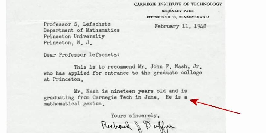 """John Nash Letter Of Recommendation Fresh Cliff Pickover On Twitter """"short Re Mendation Letter"""