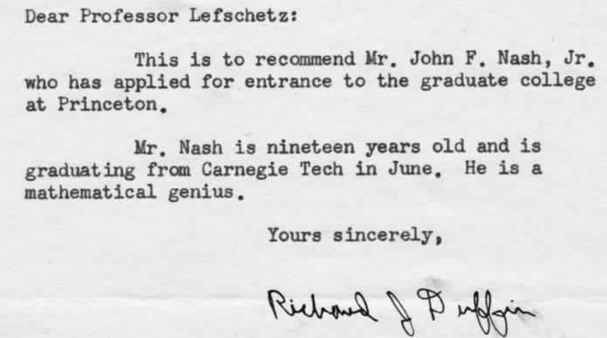 John Nash Recommendation Letter Elegant This is the Best Letter Of Re Mendation Ever Vox
