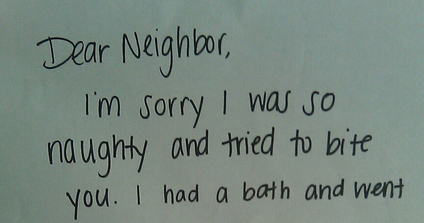 Just sold Letter to Neighbors Inspirational A Brit In America Apology Letter A Dog
