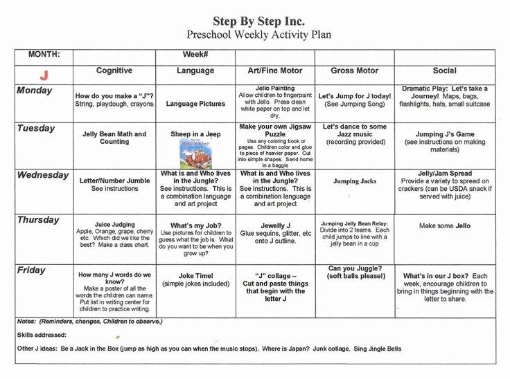 Kindergarten Lesson Plan Template Best Of Emergent Curriculum Preschool Lesson Plan Template