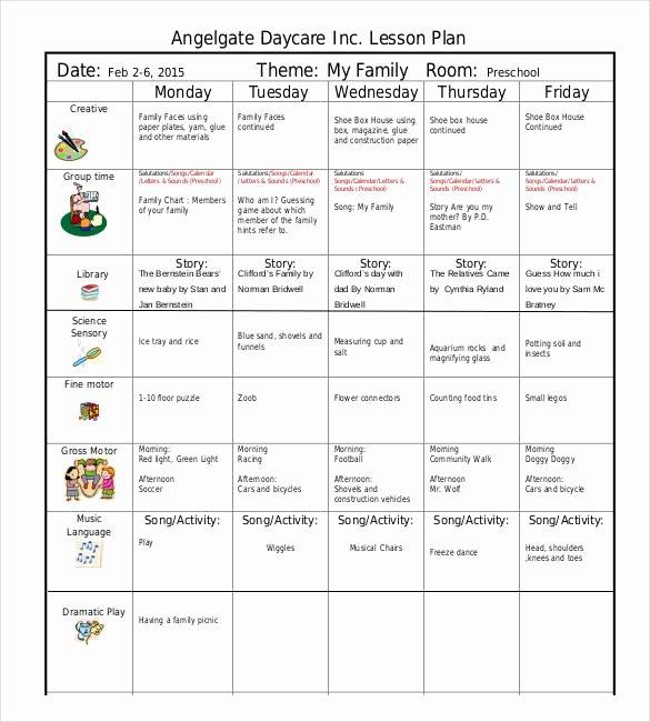 Kindergarten Lesson Plan Template Elegant 21 Preschool Lesson Plan Templates Doc Pdf Excel