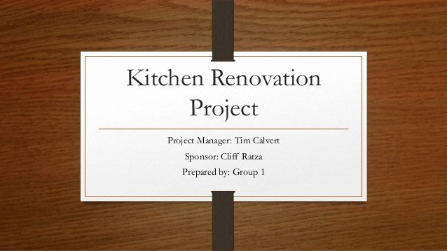 Kitchen Remodel Project Plan Template Awesome Kitchen Renovation Project