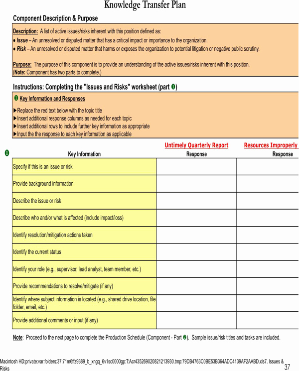 Knowledge Transfer Plan Template Unique 27 Of Knowledge Template