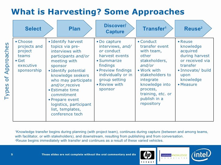 Knowledge Transfer Plan Template Unique Knowledge Harvesting