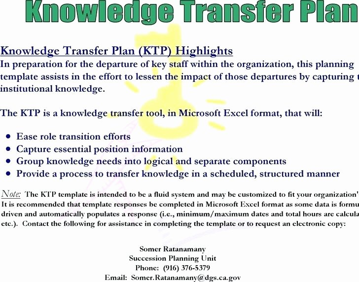 Knowledge Transition Plan Template Inspirational Knowledge Transfer Plan Template Image Collections Design