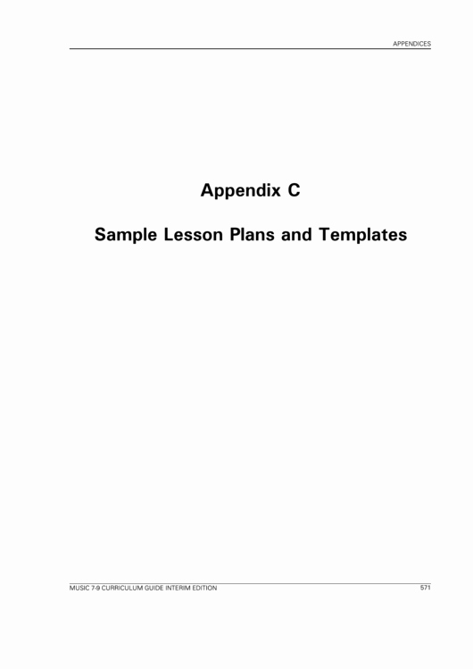 Ktip Lesson Plan Template Unique Sample Lesson Plans and Templates Printable Pdf