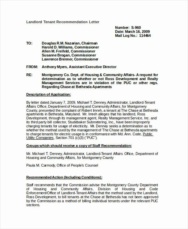 Landlord Letter Of Recommendation Best Of 89 Re Mendation Letter Examples & Samples Doc Pdf