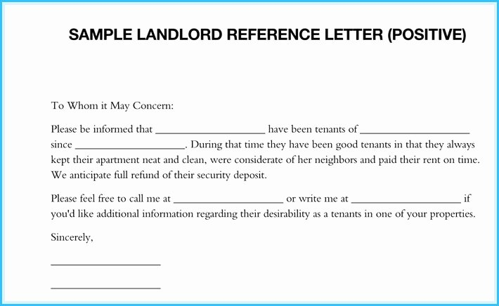 Landlord Letter Of Recommendation Elegant Landlord Reference Letter Template Landlord Reference