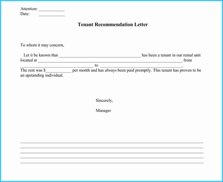 Landlord Letter Of Recommendation Lovely 5 Sample Landlord Reference Letters What is It & How to