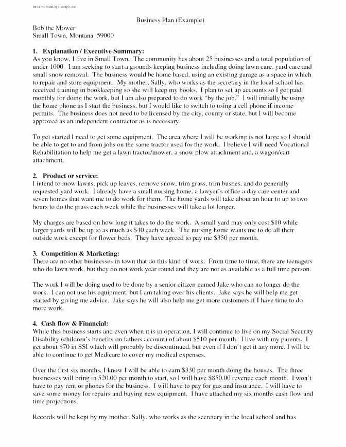 Landscaping Business Plan Template Beautiful Business Plan for Landscaping Writing A Business Plan