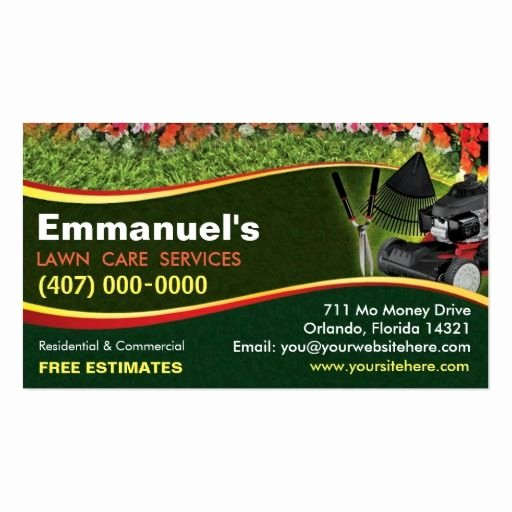 Landscaping Business Plan Template Fresh 197 Best Lawn Care Business Cards Images On Pinterest