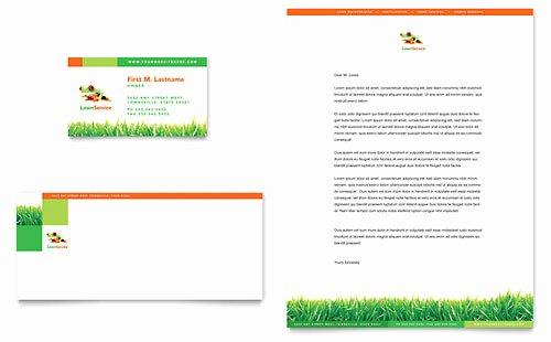Landscaping Business Plan Template Fresh Lawn Maintenance Business Card & Letterhead Template Design