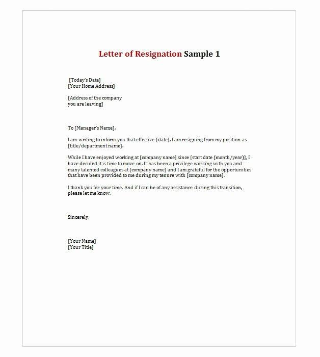 Late Letter Of Recommendation Elegant Letter Of Resignation 1 Work Stuffs