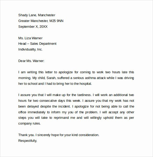 Late Letter Of Recommendation Fresh 14 Proper Letter formats Free Sample Example format