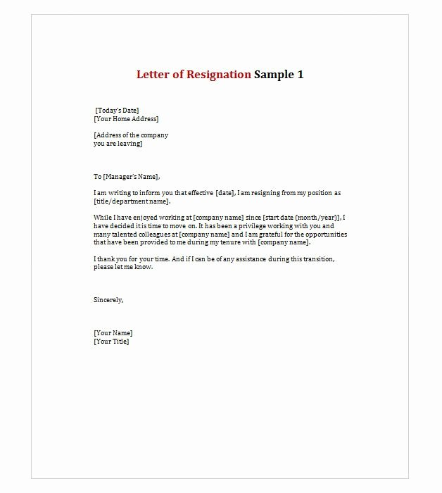Late Letter Of Recommendation New Letter Of Resignation 1 Work Stuffs