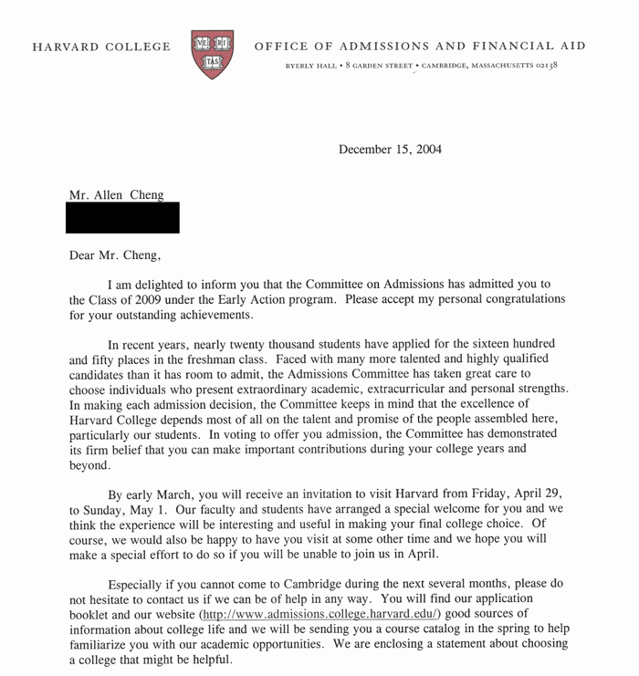 Late Letter Of Recommendation New My Successful Harvard Application Plete Mon App