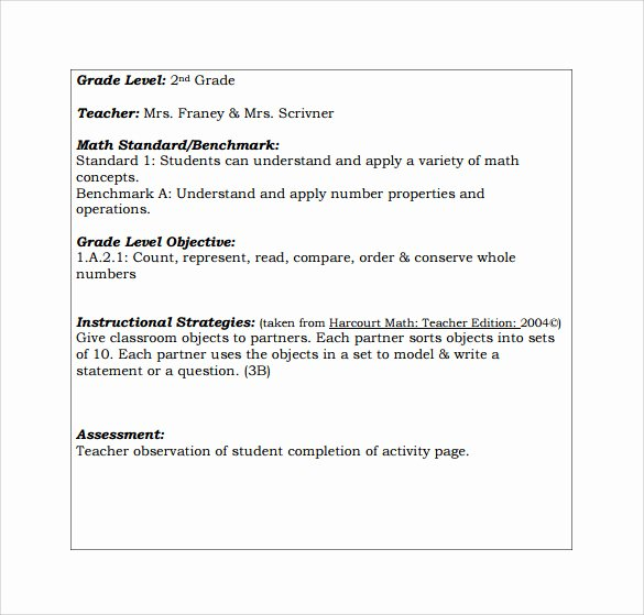 Lausd Lesson Plan Template Beautiful 19 Sample Teacher Lesson Plan Templates
