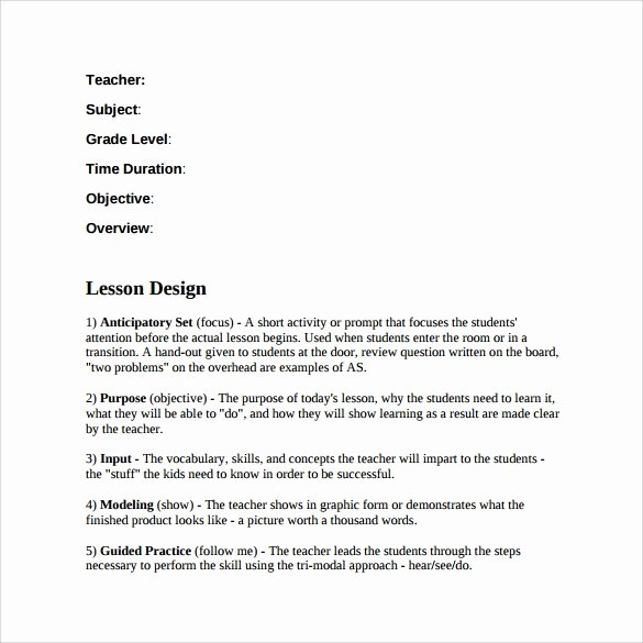 Lausd Lesson Plan Template Inspirational 19 Sample Teacher Lesson Plan Templates