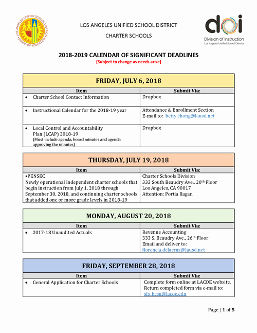 Lausd Lesson Plan Template New Lausd 2018 Calendar Lausd Lesson Plan Template