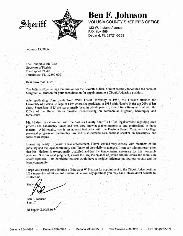 Law Enforcement Letter Of Recommendation Best Of Volusia Exposed