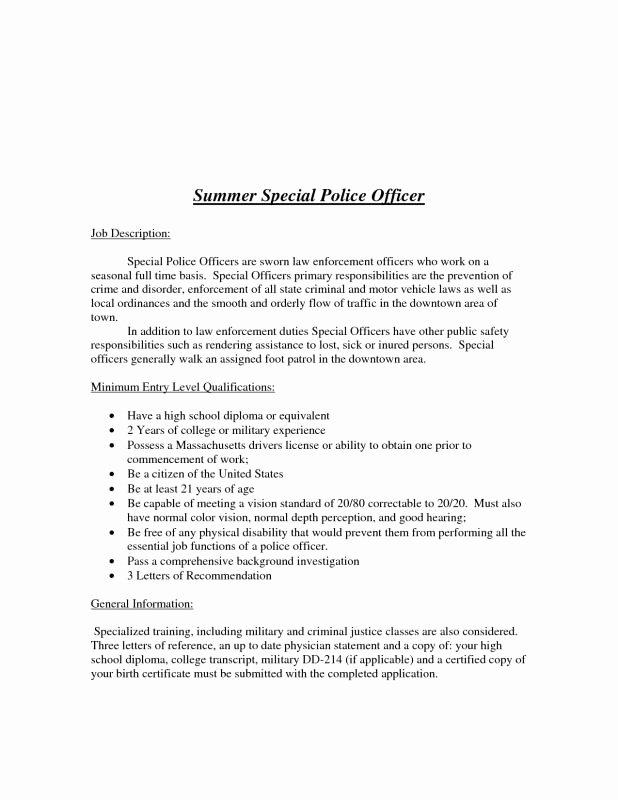 Law Enforcement Letter Of Recommendation Elegant Letters Re Mendation for Police Ficers