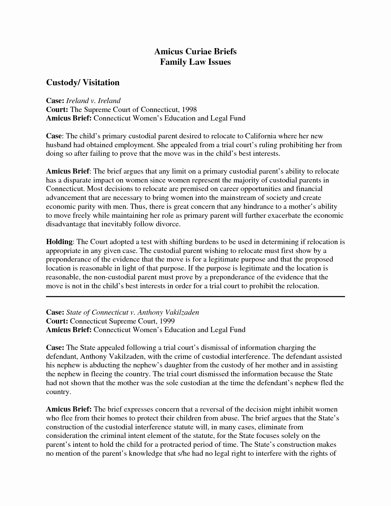 Law School Case Brief Template Awesome Case Brief Template