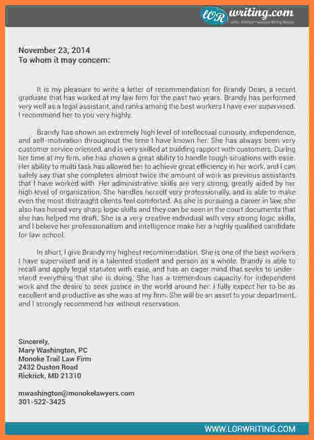 Law School Recommendation Letter Example Luxury 9 Law School Letter Of Re Mendation