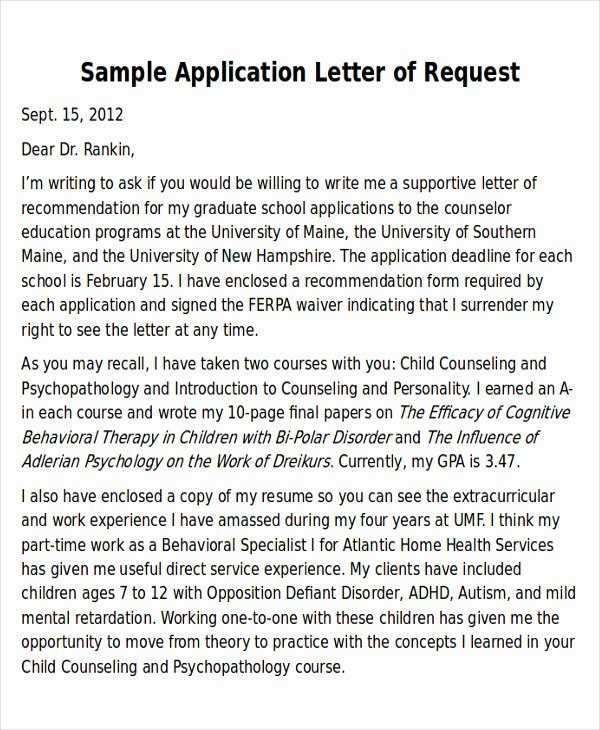 Law School Recommendation Letter Sample New Sample Law School Letter Of Re Mendation 6 Examples