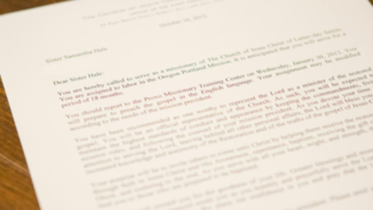 Lds Mission Call Letter Template Fresh Kutv Mormon Family Of Four Receives Mission Calls On Same Day