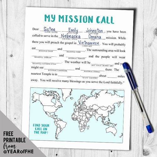 Lds Mission Call Letter Template Lovely A Year Of Fhe Year 02 Lesson 09 Missionaries