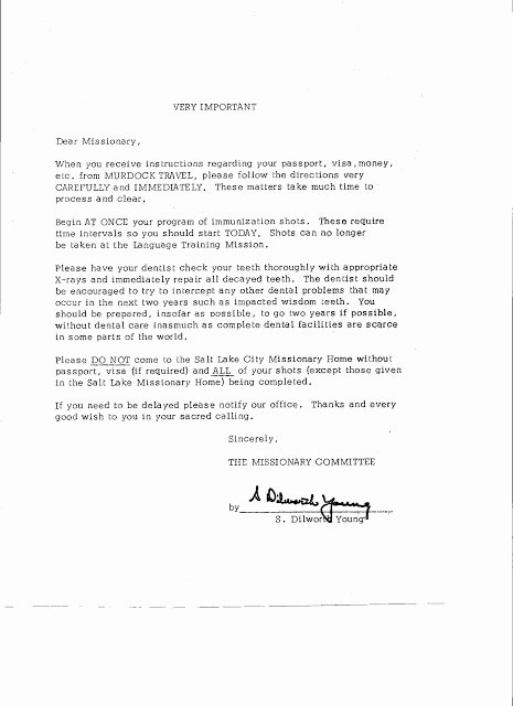 Lds Missionary Letter Template New Prepare Ye the Way Of the Lord Thirty Five Years Later