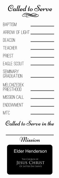 Lds Missionary Tag Template Awesome 17 Best Images About Lds Fhe On Pinterest