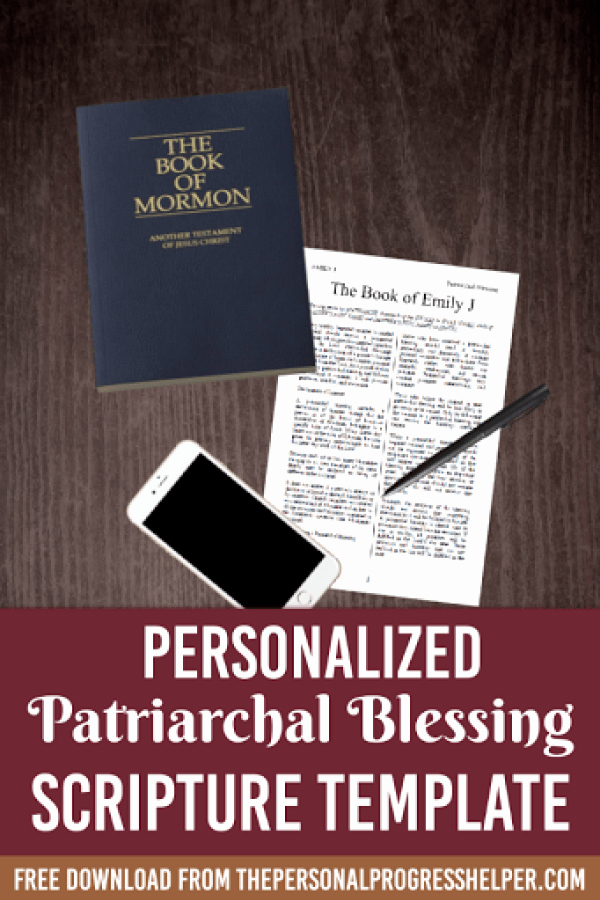 Lds Missionary Tag Template New Patriarchal Blessing Scripture Template Yw