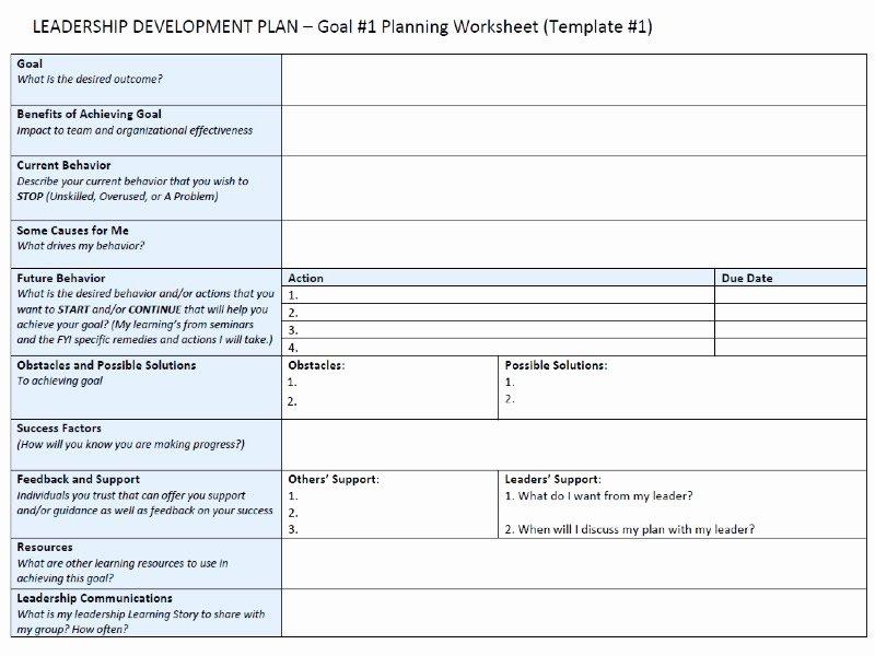 Leadership Development Plan Template Lovely Leadership Development Plan