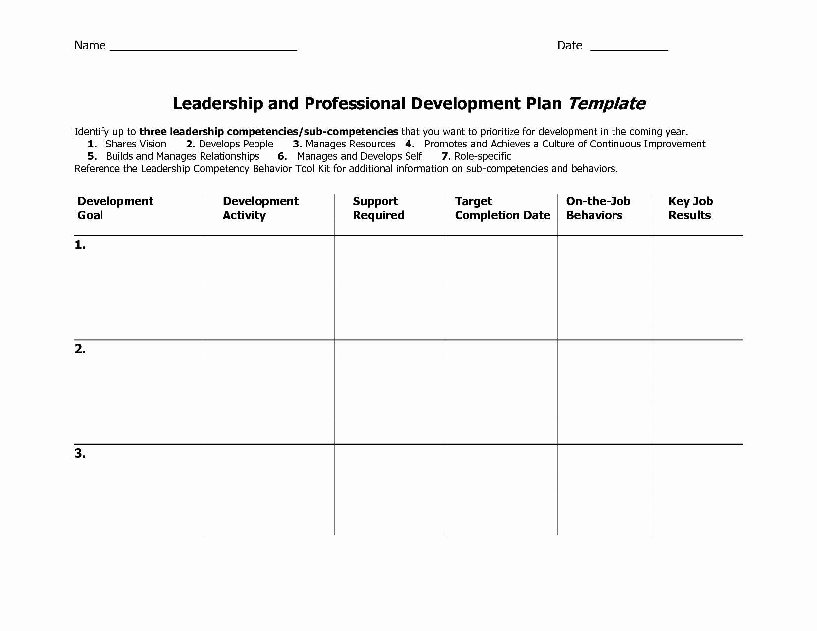 Leadership Development Plan Template Lovely Leadership Development Portfolio Sample Valid Individual