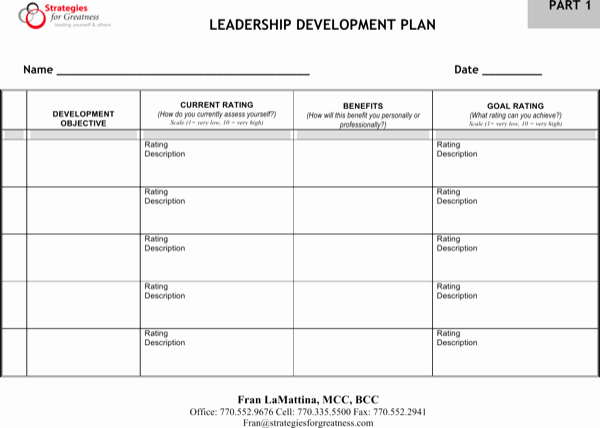 Leadership Development Plan Template Luxury Download Leadership Development Plan Free Pdf Template