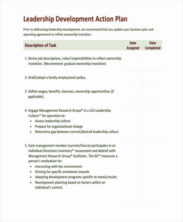 Leadership Development Plan Template Unique 58 Development Plan Examples & Samples Pdf Word Pages