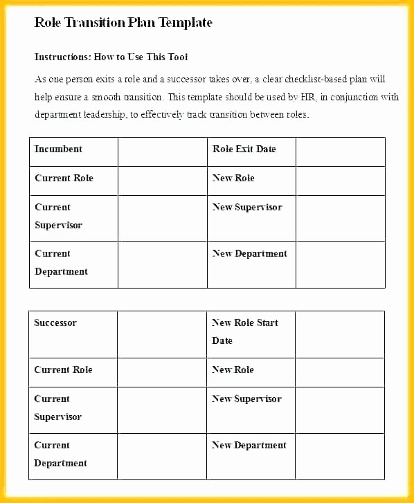 Leadership Transition Plan Template Awesome Free Transition Plan Template