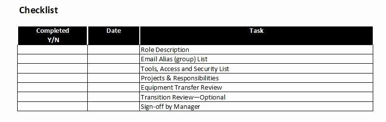 Leadership Transition Plan Template Luxury Job or Role Transition Plan Template – Starters