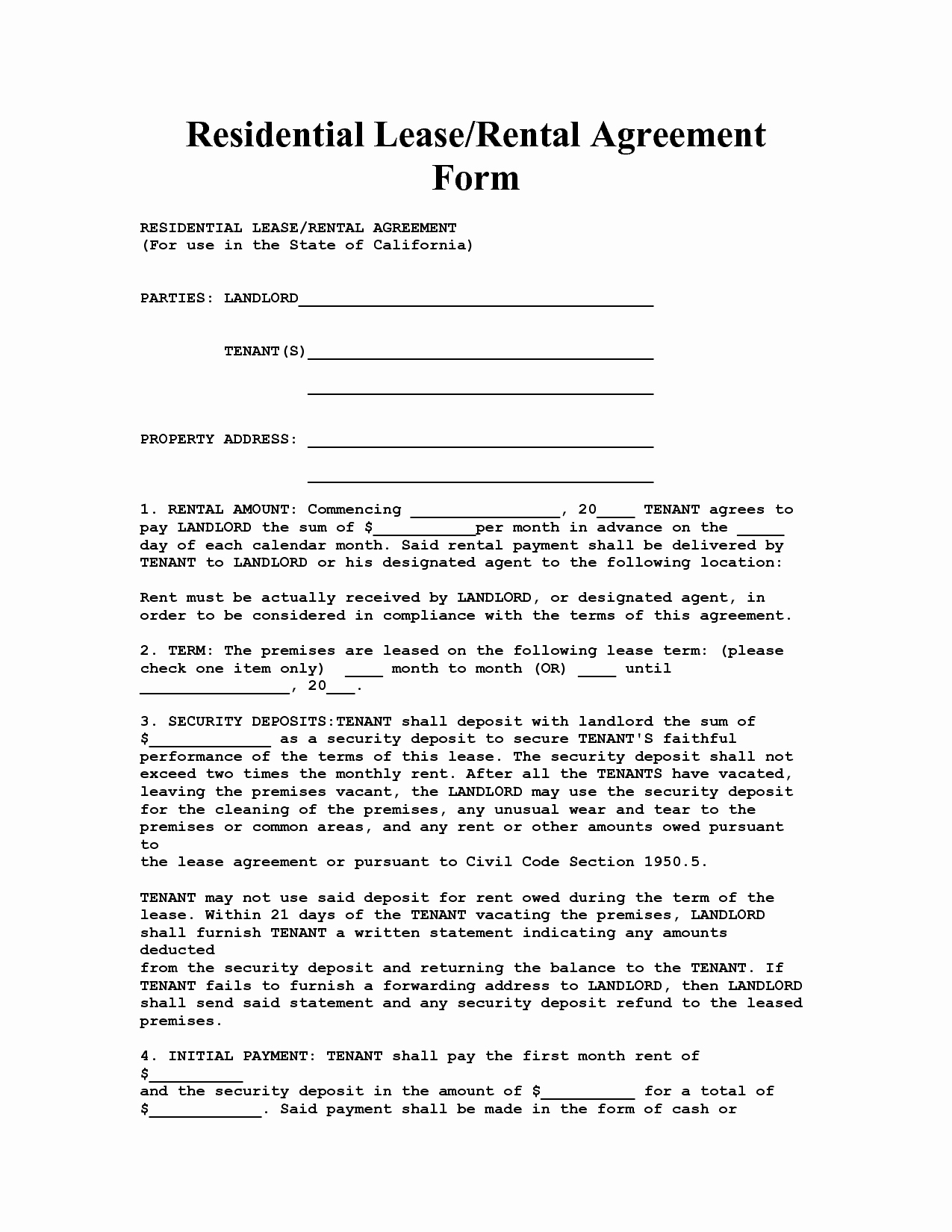 Lease Transfer Agreement Template Beautiful California House Lease Agreement form