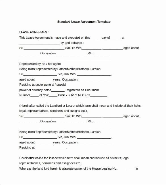 Lease Transfer Agreement Template Elegant 20 Lease Agreement Templates Word Excel Pdf formats