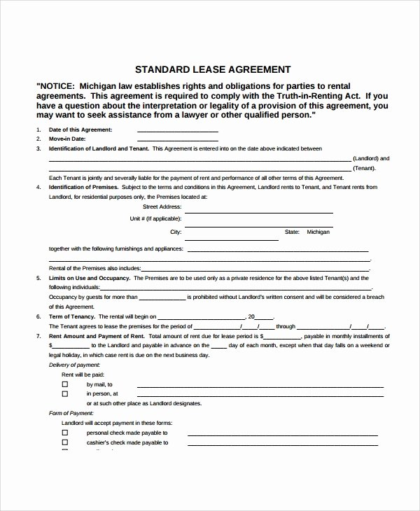 apartment lease agreements