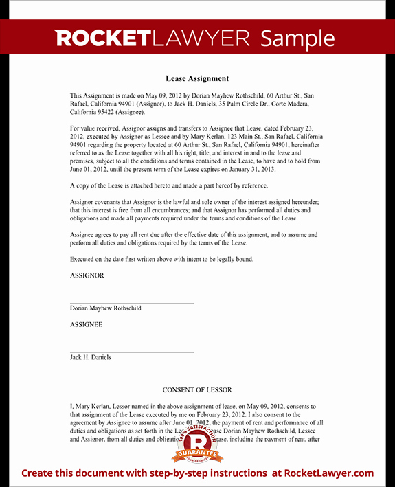Lease Transfer Agreement Template Inspirational assignment Of Lease form Lease Agreement assignment