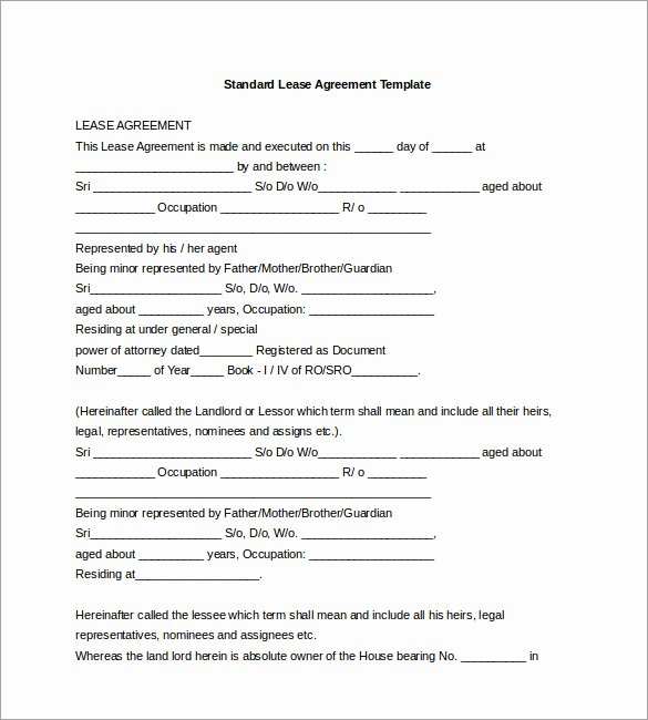 Lease Transfer Agreement Template Luxury 17 Lease Template Doc Pdf
