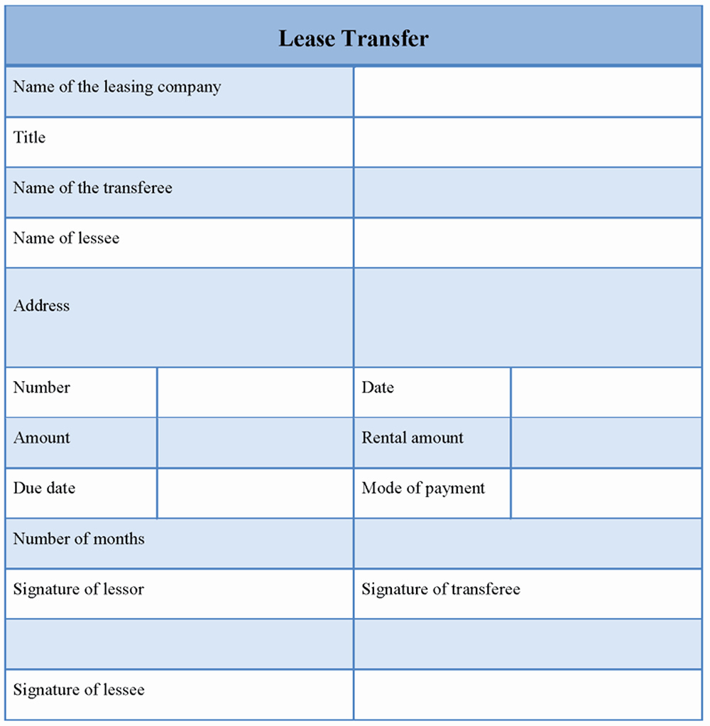 Lease Transfer Agreement Template Luxury Lease Transfer format Of Lease Transfer Template