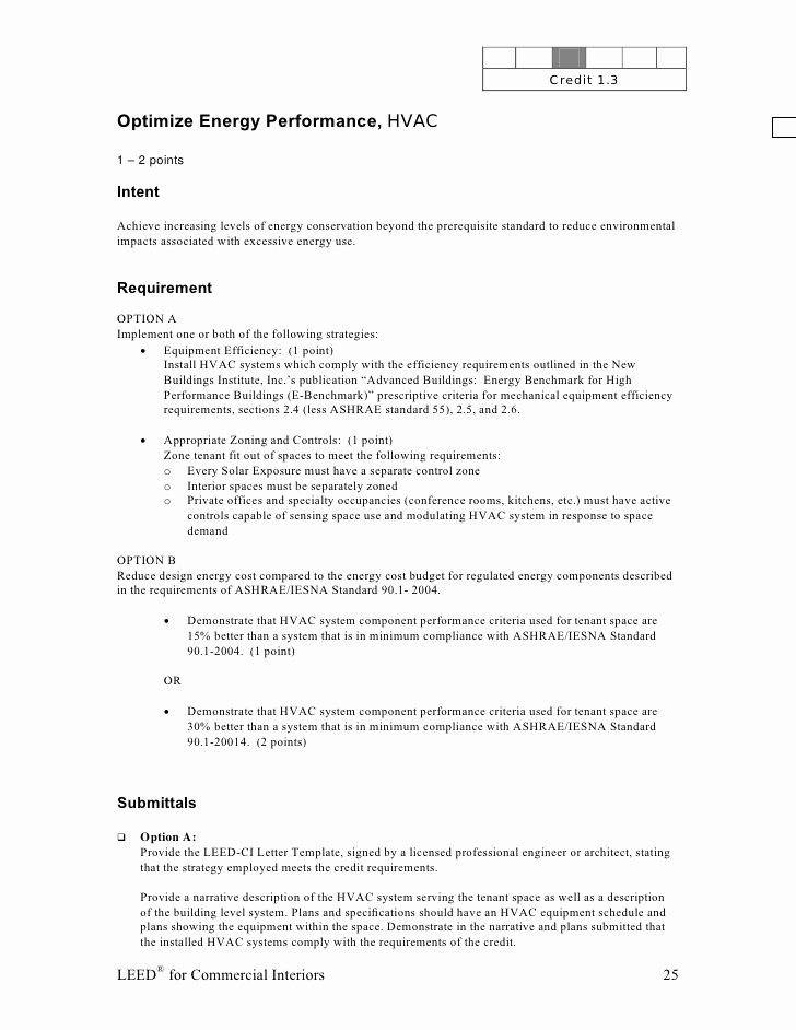 Leed Letter Template Fresh Leed Ci Abbreviated Manual