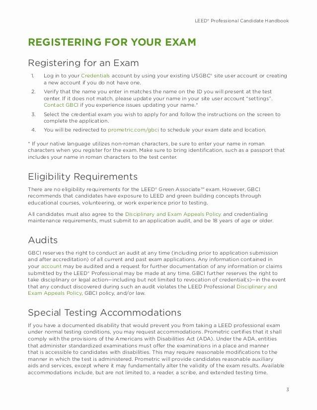 Leed Letter Template Fresh Leed V4 Green associate Candidate Handbook